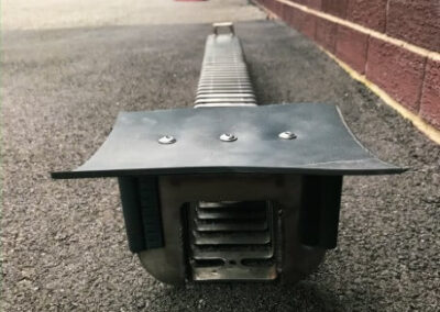 fabco industries trench drain stormwater filter system trash and debris capture device rubber flange