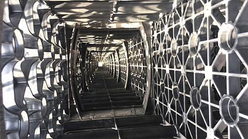 interior of r-tank underground storage for stormwater runoff