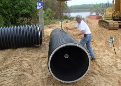 moving fabco industries helix filter corrugated pipe with crane