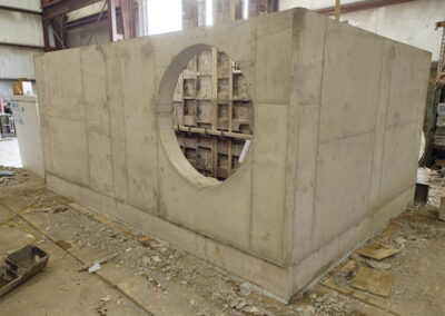 precast stormwater filtration vault base entrance