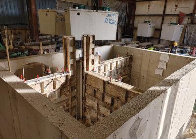 precast stormwater filtration vault construction