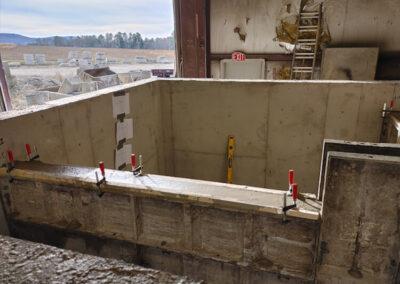 precast stormwater filtration vault construction in progress