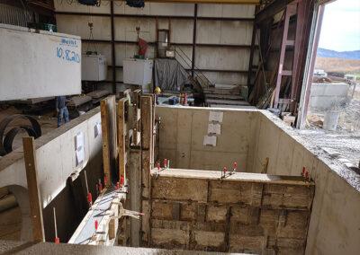 precast stormwater filtration vault frame construction in progress