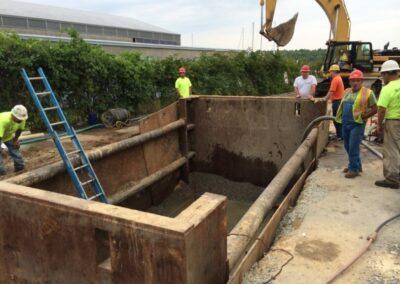 precast vault installation location