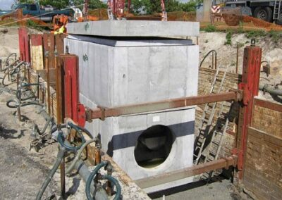 tall stormsafe installation for helix stormwater filter system