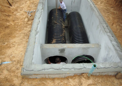two helix filter stormwater vault being installed 2