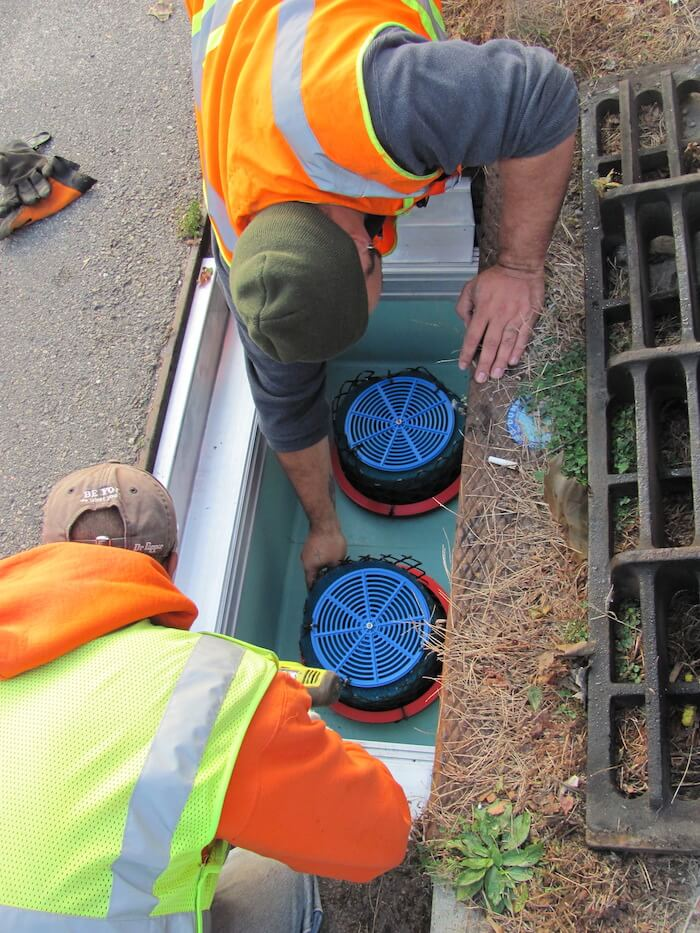 treating stormwater with catch basins