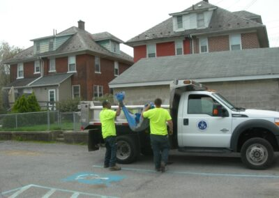 fountain hill cleanout truck crew